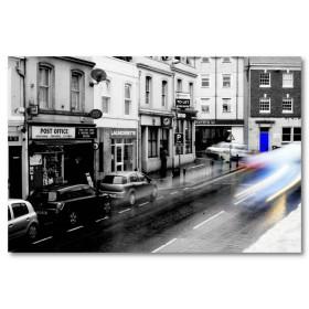 Αφίσα (μαύρο, λευκό, άσπρο, παλιά πόλη)